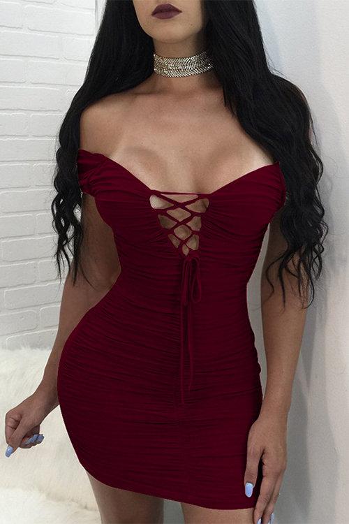 Yoins red dress
