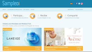 Prueba productos gratis con Sampleo