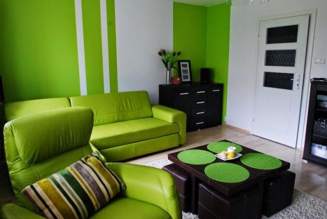 Fotos de sala en color verde salas con estilo for Decoracion de paredes de sala