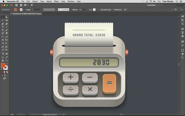 Aprende a crear un icono de calculadora en illustrator paso a paso