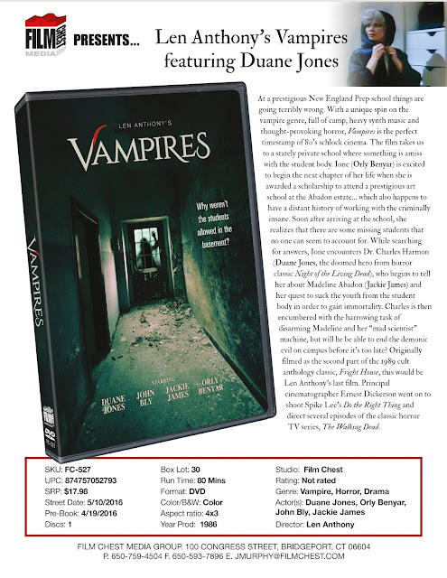 DVD & Blu-ray Release Report, Vampires, Ralph Tribbey