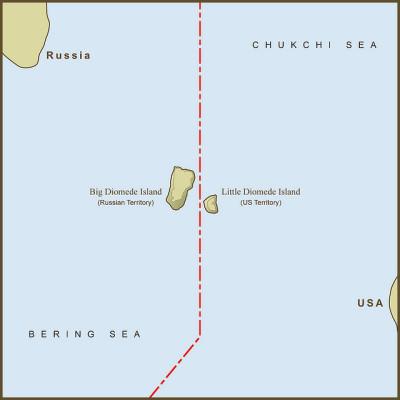 Perbatasan Amerika Serikat – Rusia (The Diomedes)