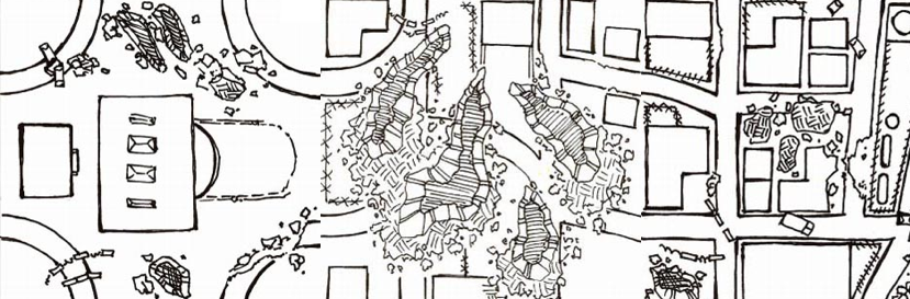 The Savage AfterWorld: Post-Apocalyptic Ruined City Map
