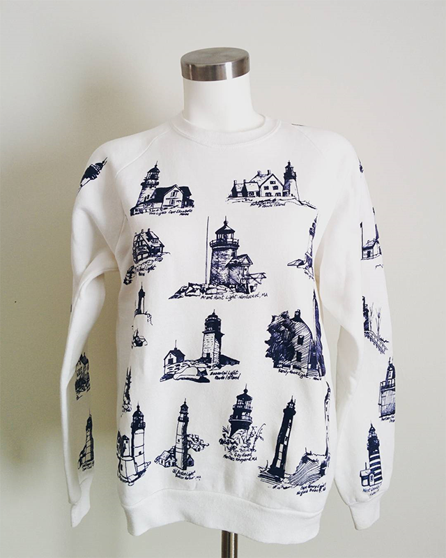 #thriftscorethursday Week 98 | Instagram user: vwbuggythrifter shows off this Blue and White Sweatshirt
