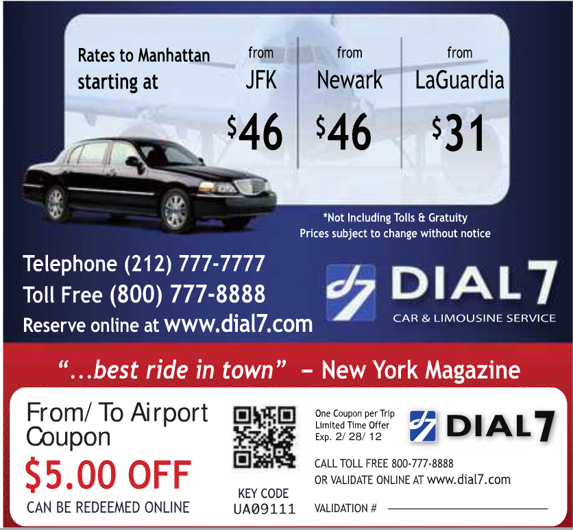 Dial 7 Car Service Coupon