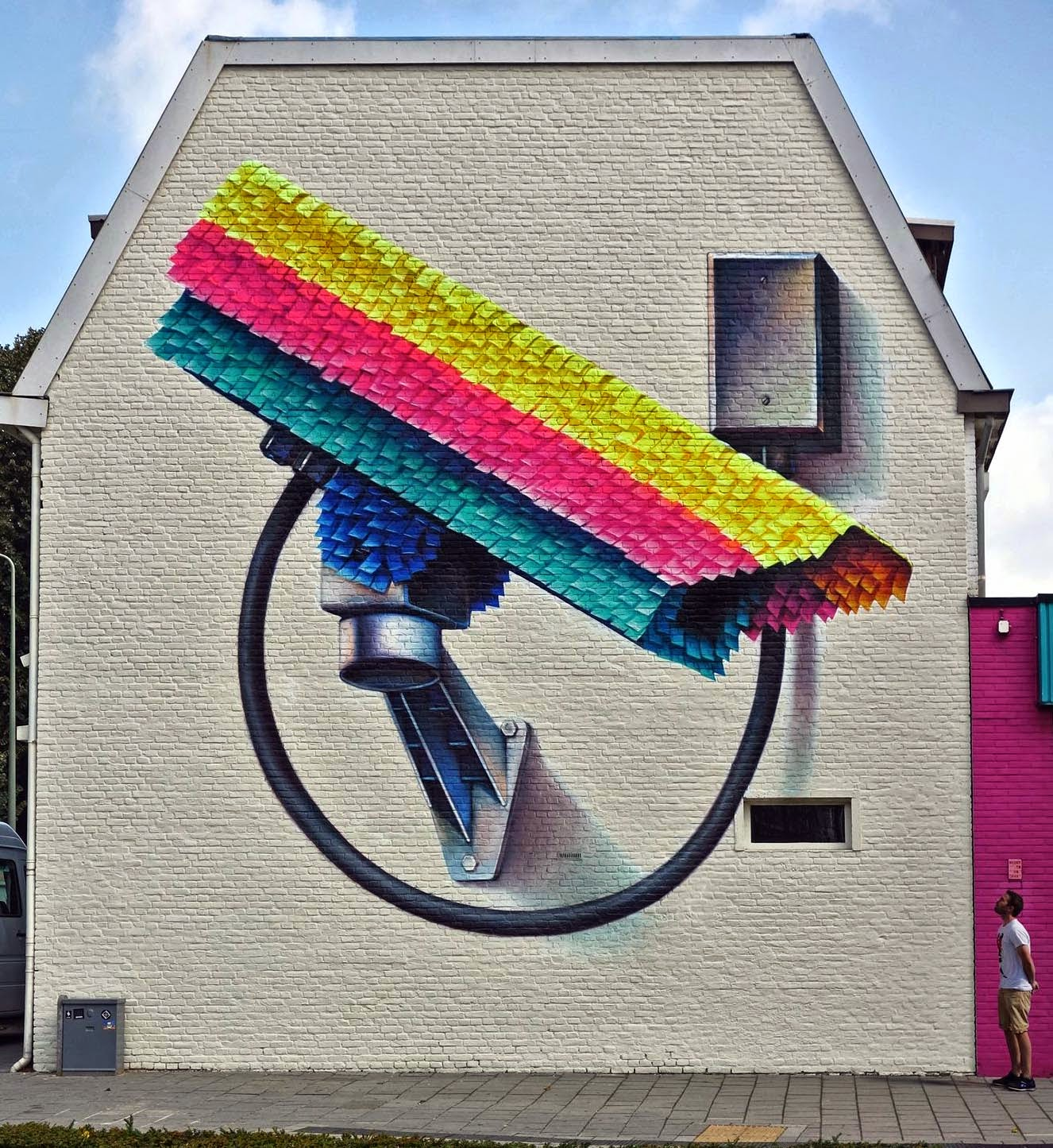 The Heerlen street art mural project is coming to an end with yet another brilliant new piece from Super-A.