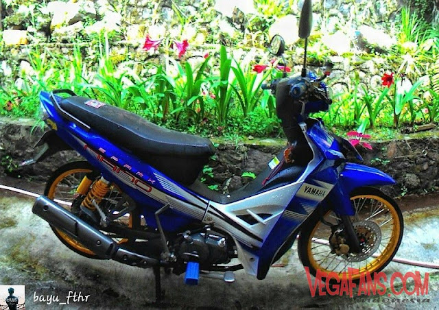Modifikasi Vega R New Biru Modif Standar Striping Spark Nano