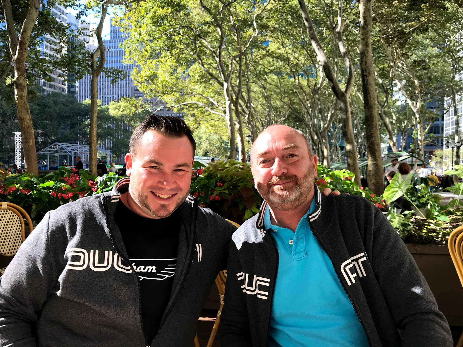 Tigh Loughhead and Brian Kirwain GothamDOC and DucatiPerformanceClub from Paris in NYC