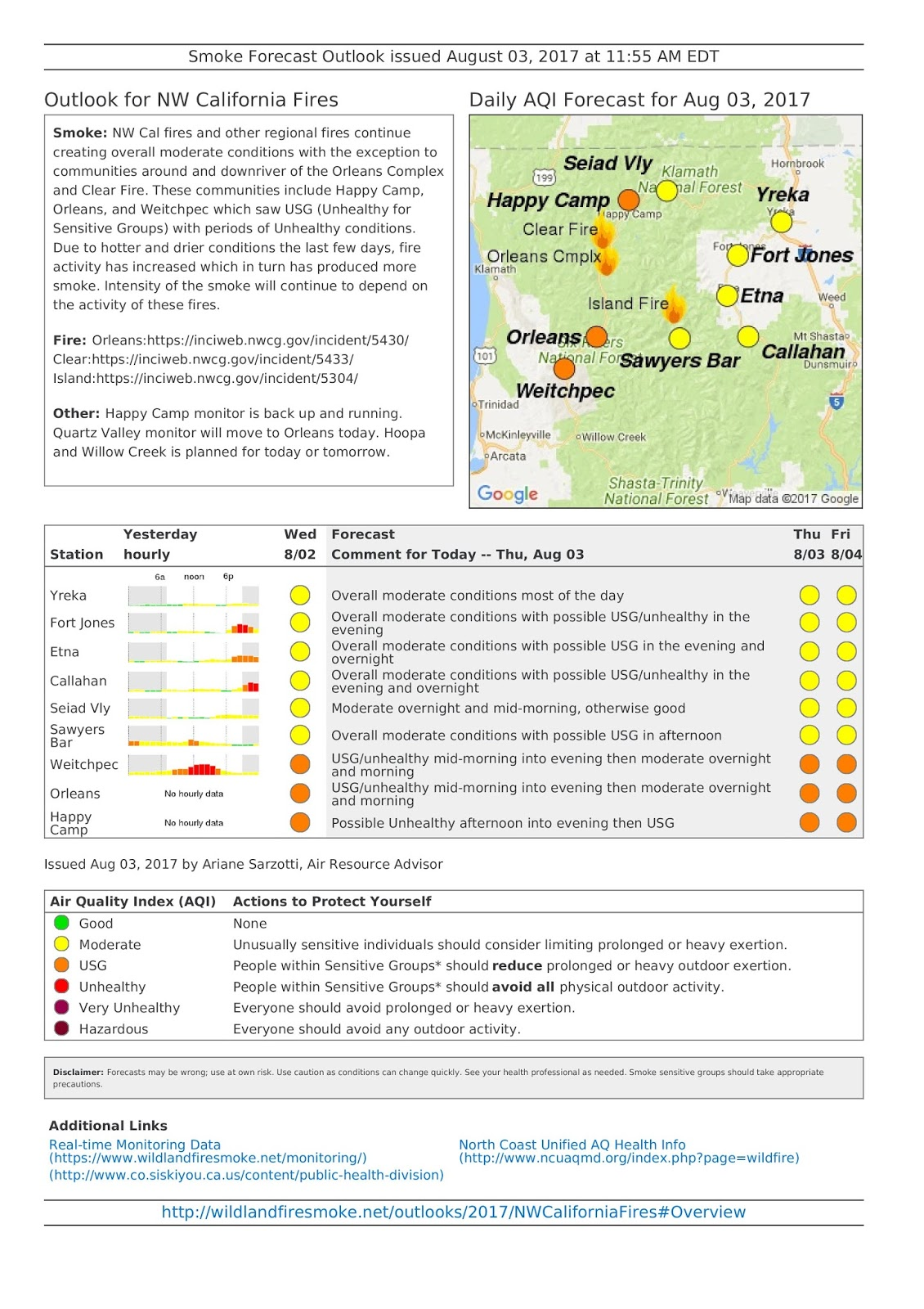 thursday august 3 2017 nw cal fires smoke forecast