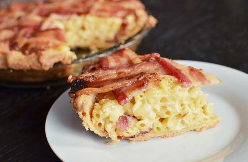 #10. Bacon Macaroni & Cheese Pie.  CLICK for More Mac 'n' Cheese Ideas (via http://www.buzzfeed.com/emofly/macaroni-and-cheese-pie-with-a-bacon-lattice)