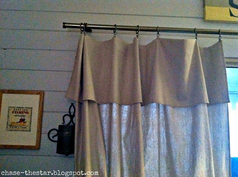 Behold The Drop Cloth Curtain