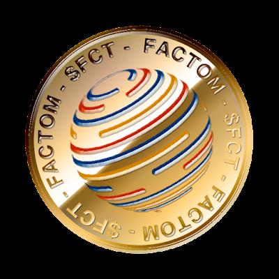 ファクトム(Factom)のフリー素材(金貨ver)