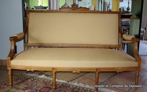 atelier et comptoir du tapissier banquette et berg res louis xvi. Black Bedroom Furniture Sets. Home Design Ideas