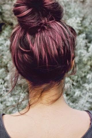 Perfectly plum hair