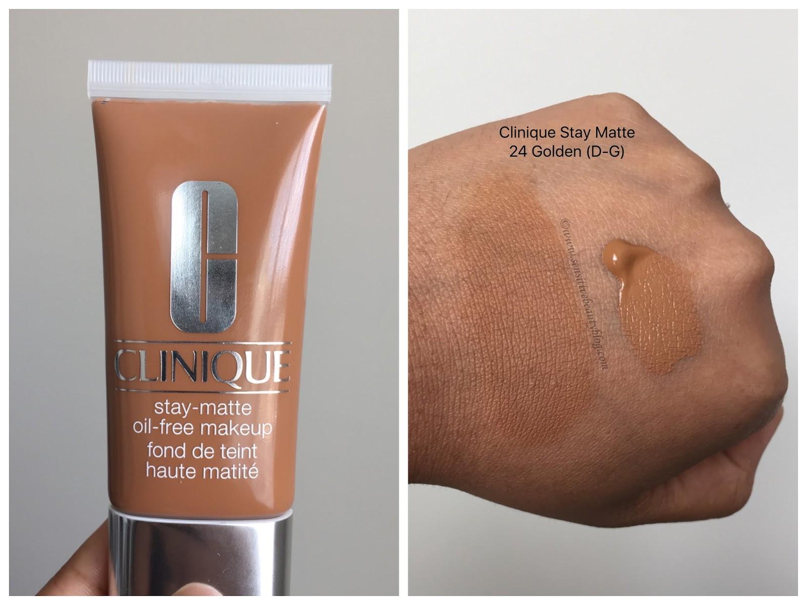 Sensitive Beauty Blog Clinique Stay Matte Oil Free Makeup Review