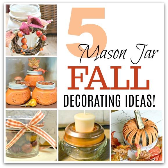 DIY Repurposed Mason Jar Ideas for Fall