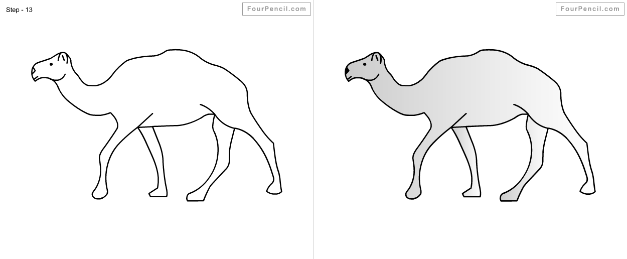 Fpencil: How to draw camel for kids step by step