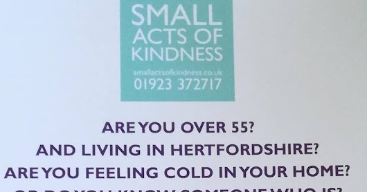Small Acts of Kindness - Now not so small...