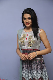 Sakshi Chaudhary Beautiful Emroidery Work Sleeveless Anarkali Dress 036.JPG