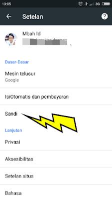 cara melihat sandi yang tersimpan di browser hp android