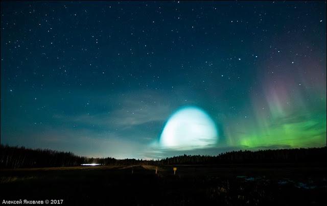 Rejtélyes fénylő gömb jelent meg Észak-Szibéria egén