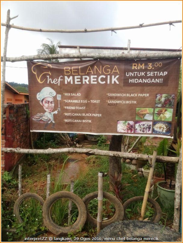 Chef Belanga Merecik di Langkawi