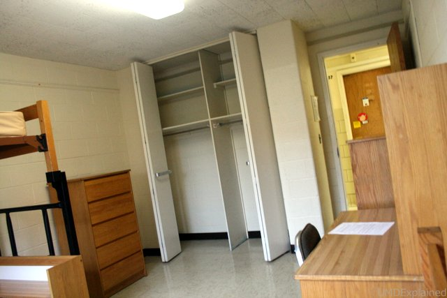 UMD Explained Standard Double Room Layout with Lofted Bed