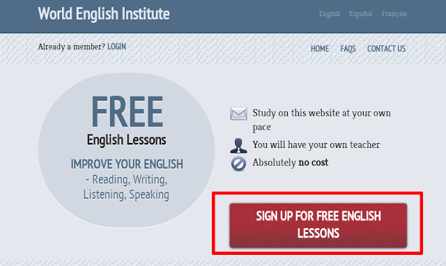 7ff2750e9 أولا: قم بالدخول إلى موقع World English Institute ثم اضغط على