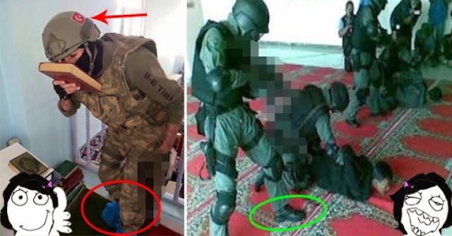 Perbedaan Tentara Turki vs Densus 88 Saat Memasuki Masjid