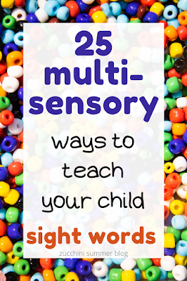 25 multi-sensory ways to teach your child to read sight words
