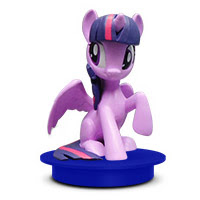 MLP Consessions Drink Toppers Twilight Sparkle Figure by Cinema Scene