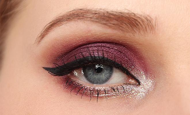 valentýnské líčení třpytivé líčení líčení na valentýn valentine's day makeup makeup look heavy metal eyeliner vintage romance