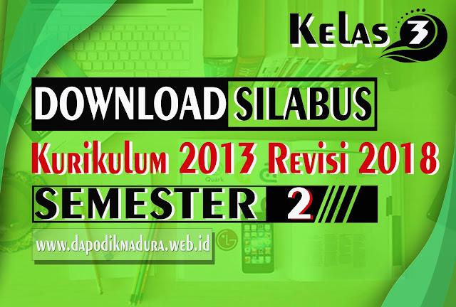 Contoh Silabus Kelas 3 SD K13 Edisi Revisi 2018 Doc