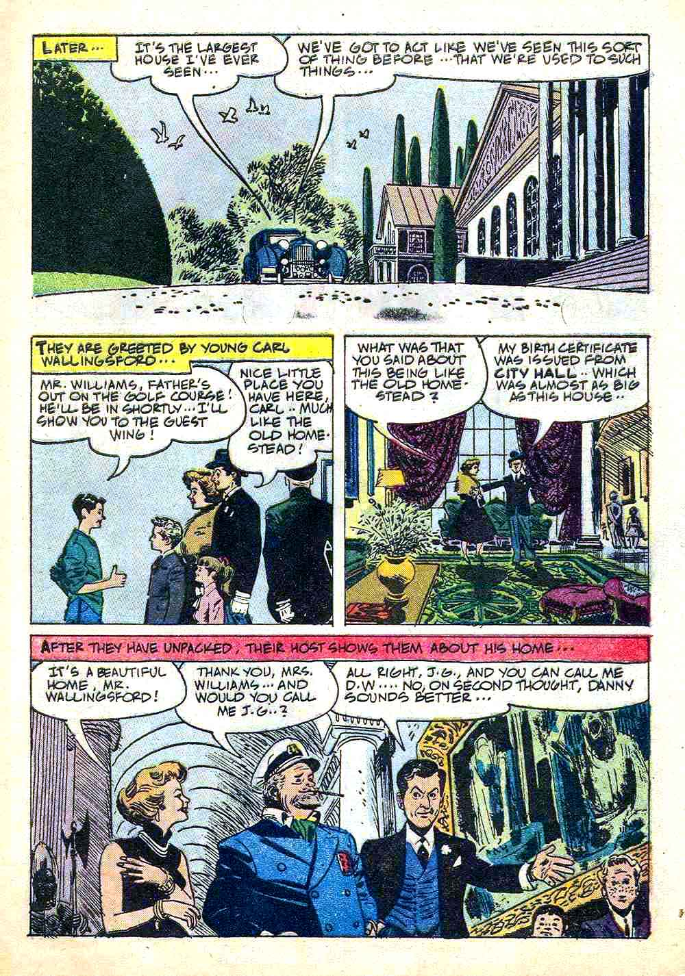 The Danny Thomas Show / Four Color Comics #1180 dell comic book page art by Alex Toth