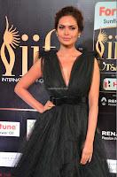 Esha Gupta in a Deep Neck Sleeveless Dark Green Gown at IIFA Utsavam Awards 2017     43.JPG