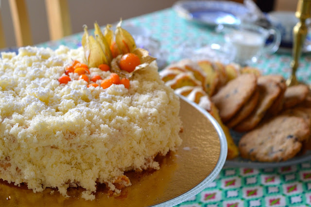 täytekakku, mimosa-kakku, kakku, torta di mimosa