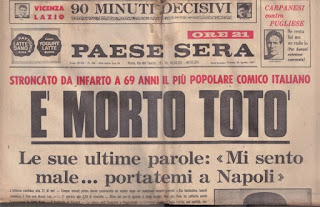 Toto's death in 1967 was front page news