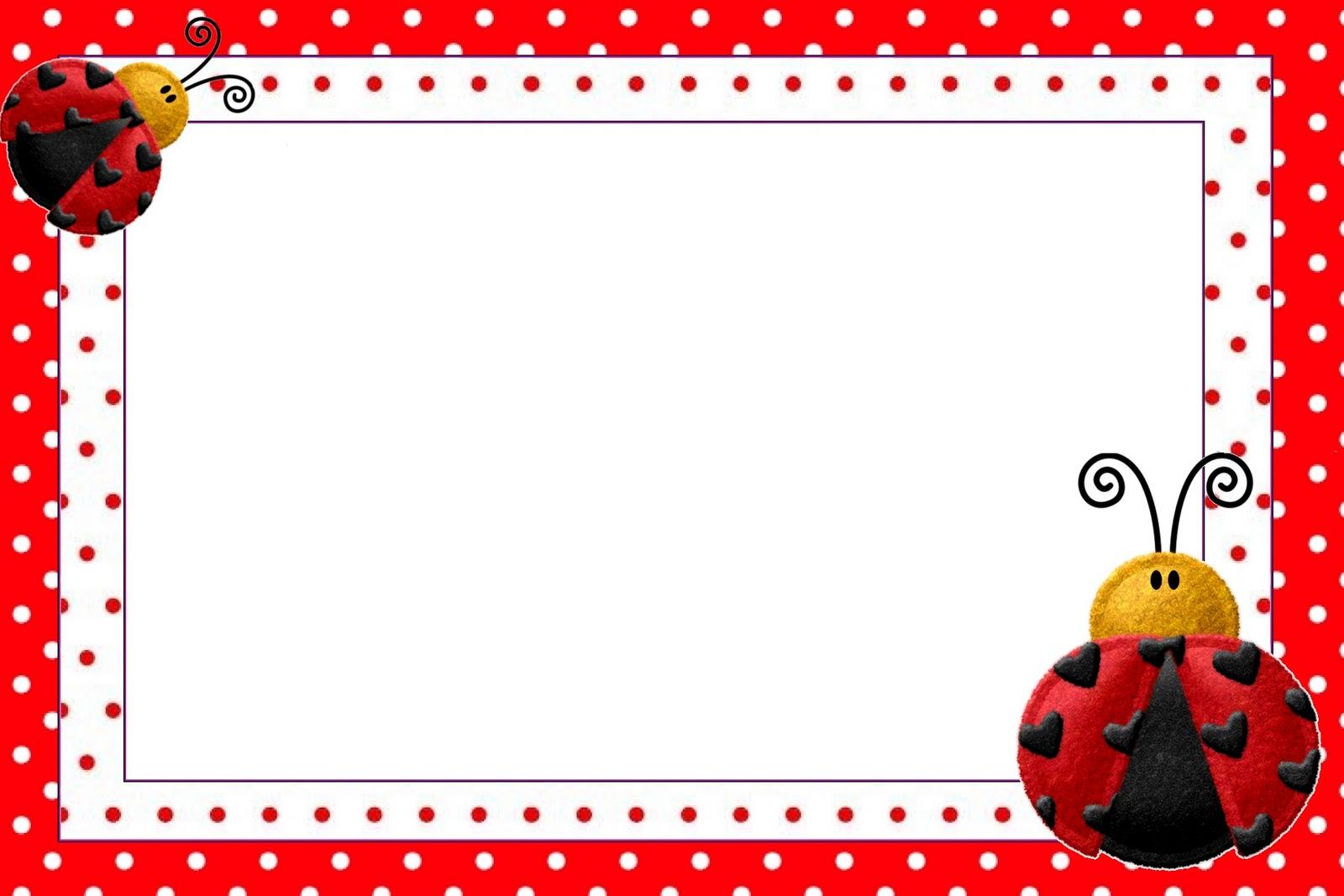 Lovely Ladybugs Free Printable Invitations
