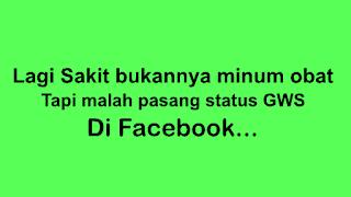 status gws di facebook