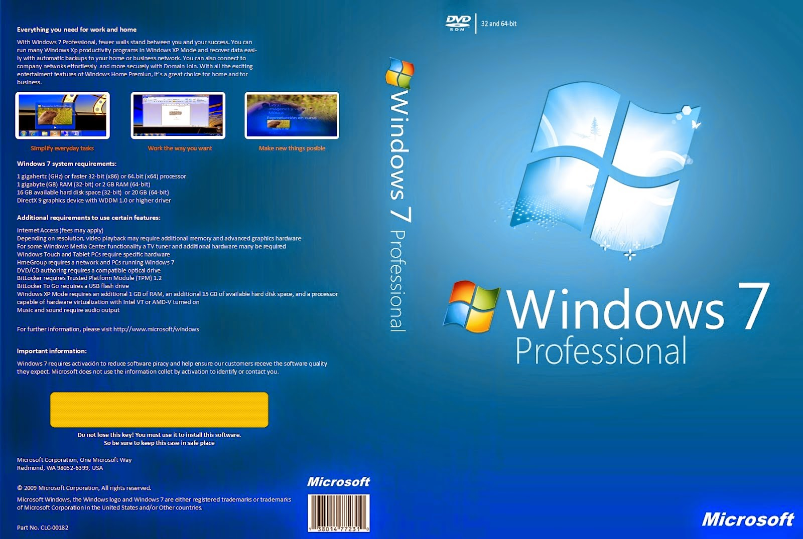 Windows 7 SP1 64 bits - Descargar
