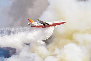 """Positivo balance de """"Ten Tanker"""" en combate de incendios forestales"""