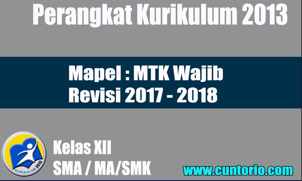 RPP K13 MTK WAJIB KELAS XII REVISI 2018
