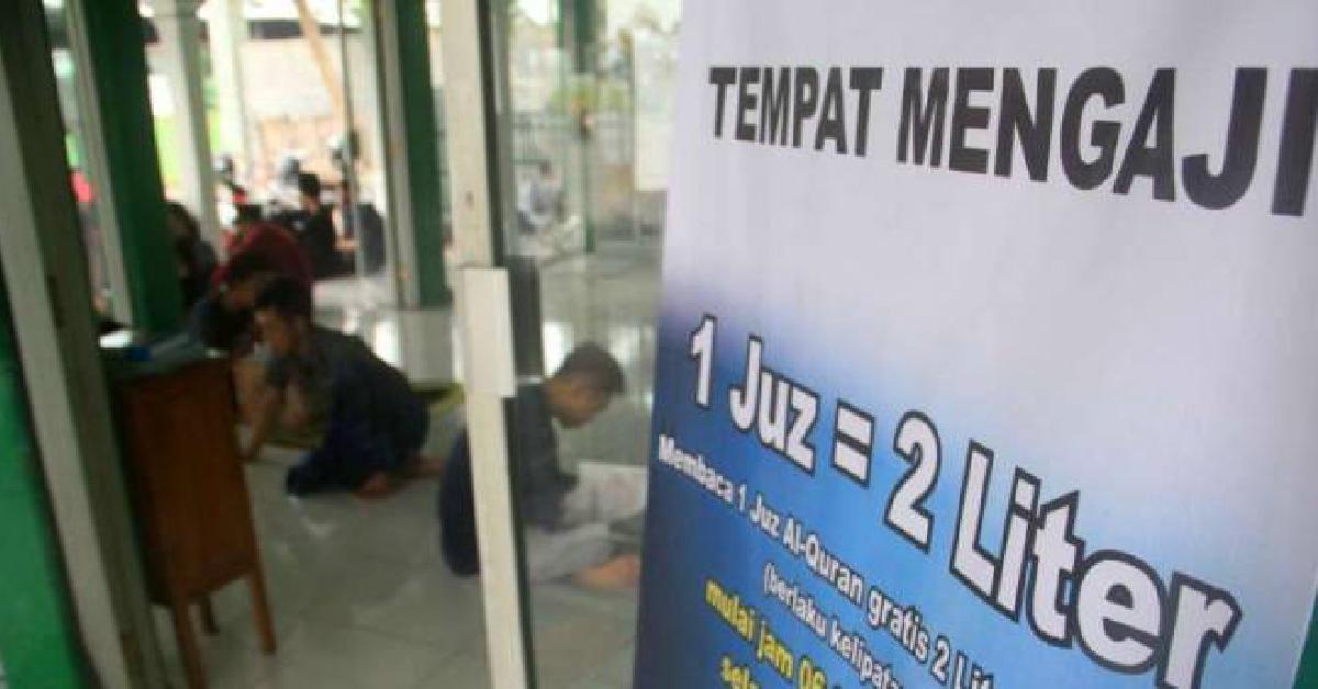 Baca 1 Juzuk Al Quran, dapat 2 liter minyak percuma di Indonesia