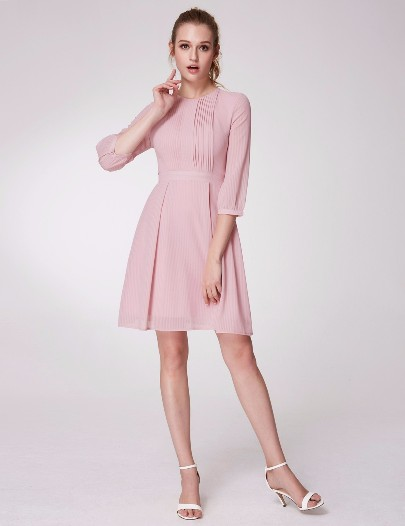 Alisa Pan Long Sleeve A-Line Dress (Price:$34.99)