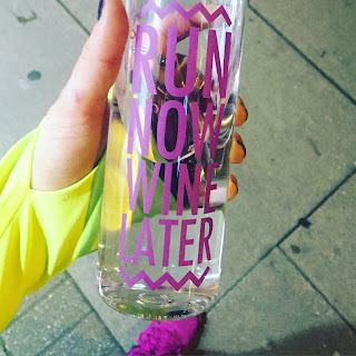 Run Now, Wine Later - water bottle