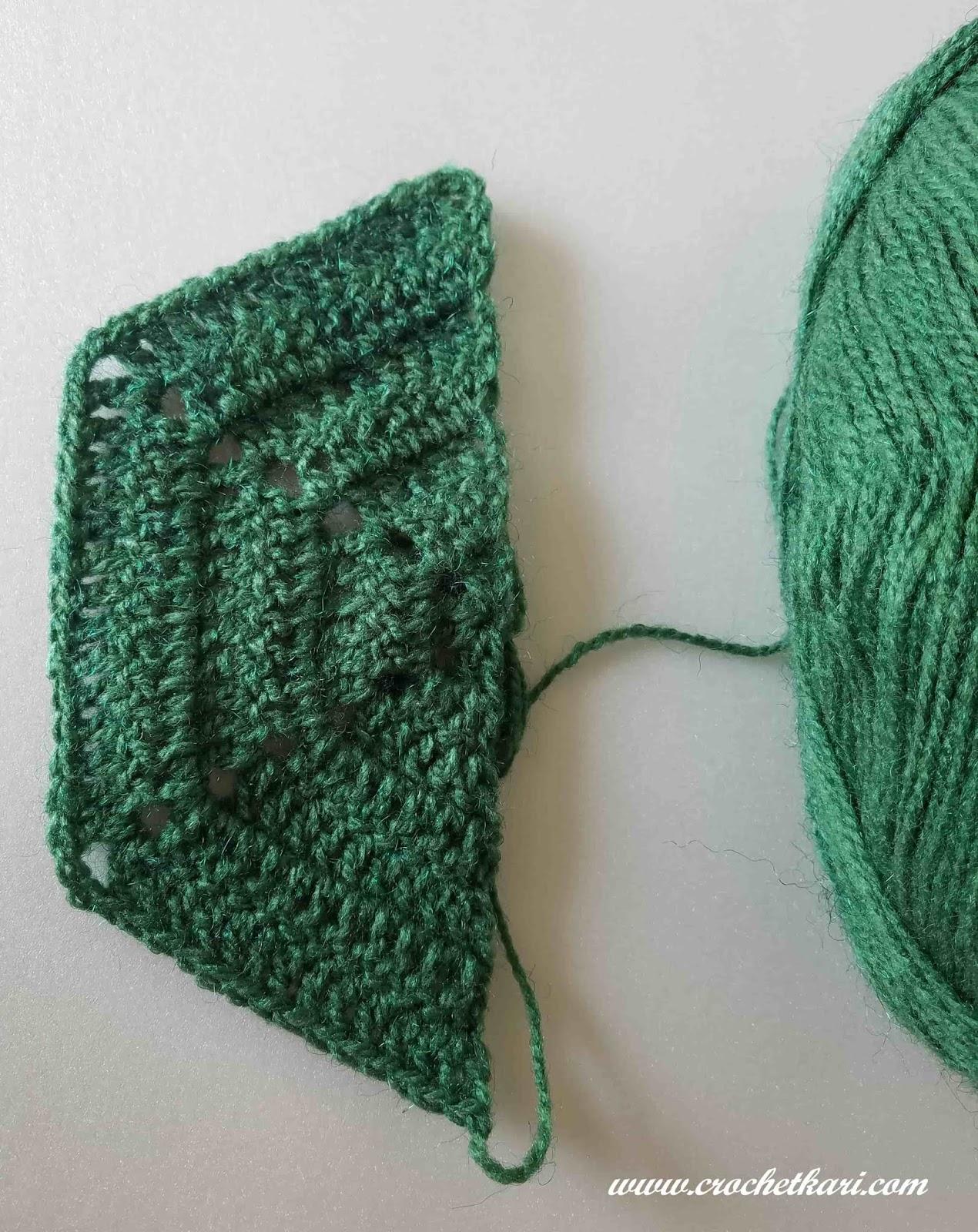 Crochetkari Crochet Hexagon Blanket Half Hexagon Pattern And Joining
