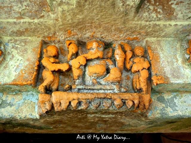 Carvings at the Sangameshwar Shiva Temple, Saswad, Pune