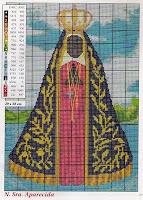 Nossa Senhora Aparecida Em Ponto Cruz Com Diagrama