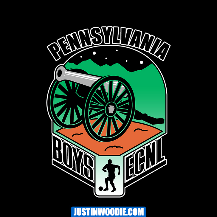 Boys ECNL Pennsylvania Graphic Logo Design