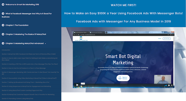 ManyChat Course from Smart Bot Marketers